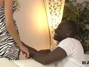 BLACK4K. Blonde girl knows huge dick can't be replaced by..