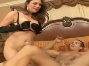 Busty milf &amp two cock anal