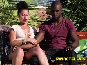 Redhead swinger couple opens their mind little by little