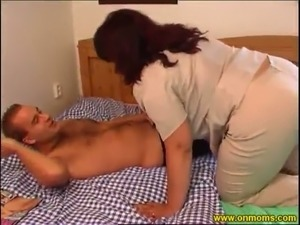 Voluptuous mature woman with big juicy boobs loves cowgirl position