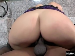 Big ass doll pleasured hardcore missionary in interracial porn