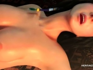 Dick sucking anime beauty fucked hard from behind
