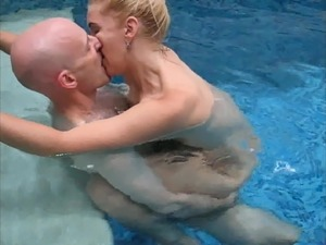 sadobitch - inside pool with 7 orgasm