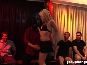 Smoking hot mature German blonde loves 10 guys fucking her