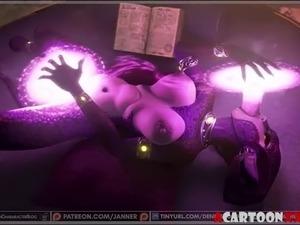 Blowjob and hard 3D futanari sex sessions