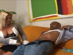 Heavy giant breasted MILFie blondie keeps on riding strong fat BBC