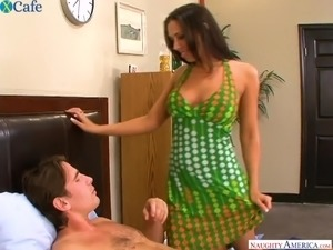 Voracious orgasmic tanned beauty Rachel Starr is eager to be poked doggy