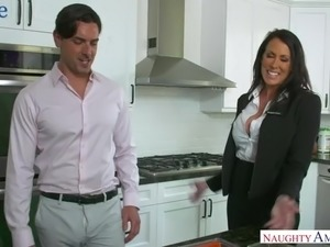 Lusty real estate dealer Reagan Foxx is ready for some good doggy