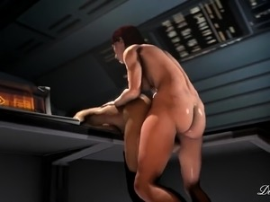 Big breasted 3D bombshells enjoy hardcore futanari fucking