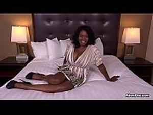 Curvy Ebony Milf Has All Natural Big Black Tits in her First HD POV Fuck Film