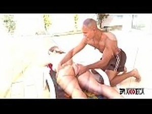 Axxxteca The huge delicous ass of hot MILF Mirella Mansur gets double anal...