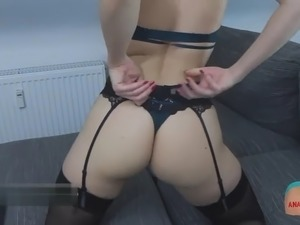 German beauties planted a dick in the ass during webcam