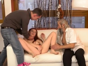 Old grandpa fucks hard Unexpected experience with an